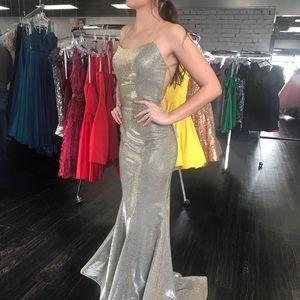 Electric gold Sherri hill prom dress